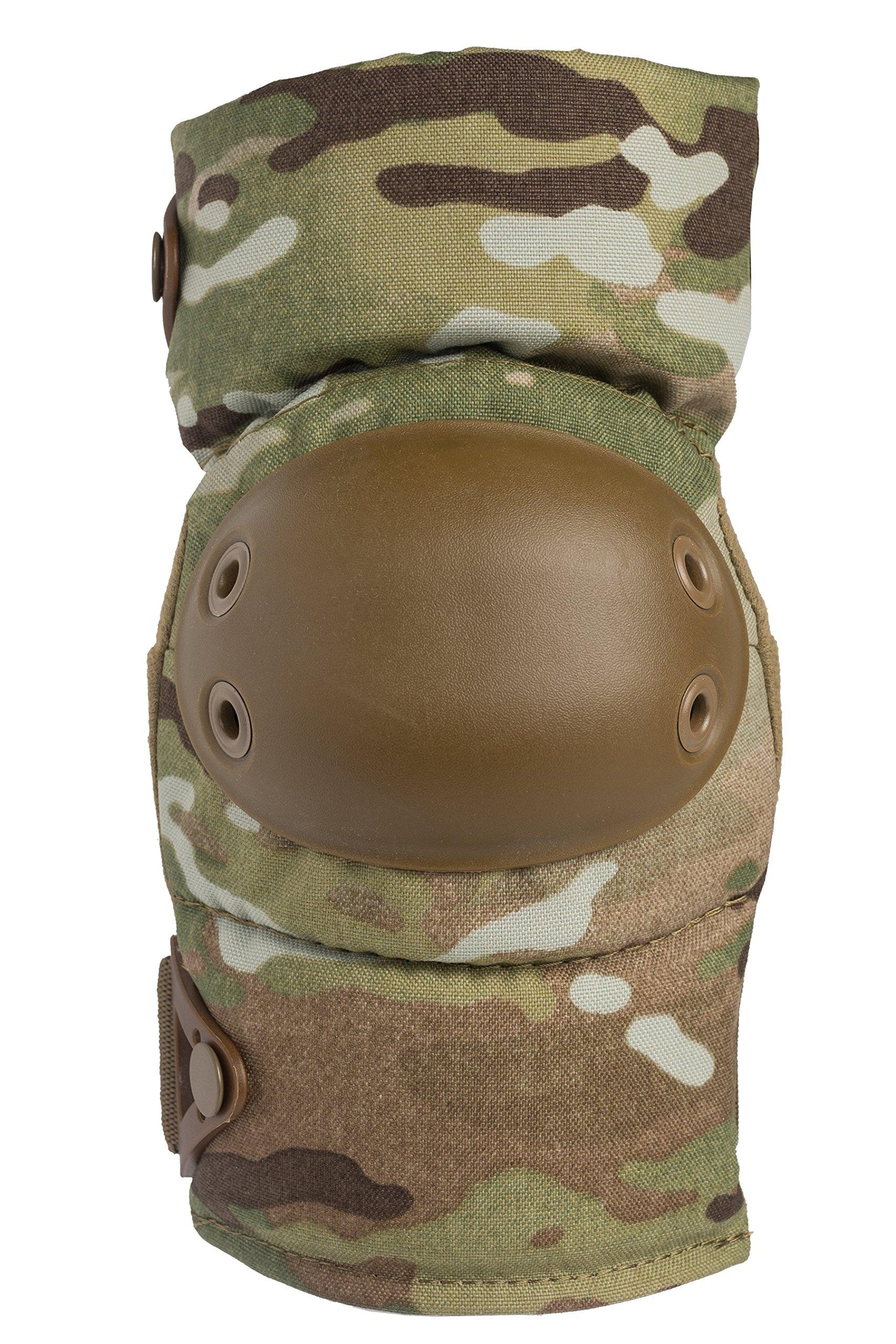 ALTA 53113.16 AltaCONTOUR Elbow Protector Pad, MultiCAM Cordura Nylon Fabric, AltaLOK Fastening, Flexible Cap, Round, Coyote