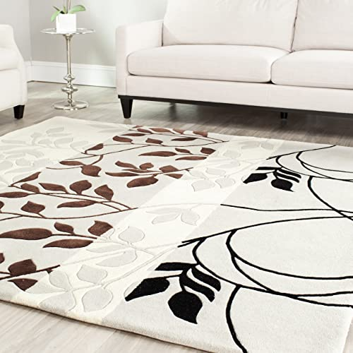 Safavieh Capri Collection CPR337A Handmade Grey and Multi Premium Wool Square Area Rug 7' Square