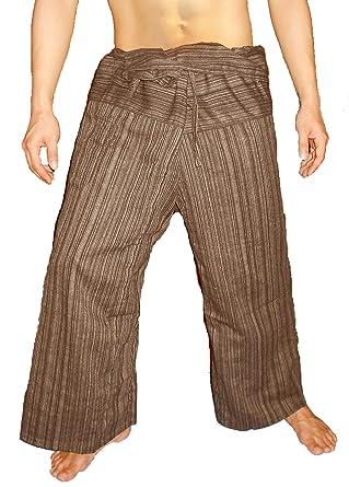 Amazon.com: 100% algodón Heavy Thai Pescador pantalones de ...