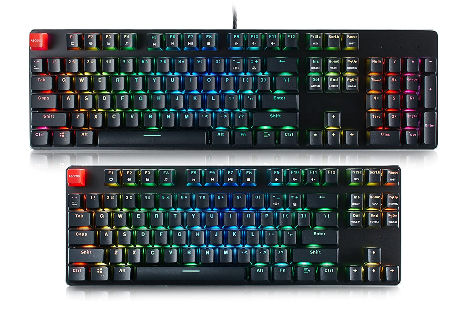 Glorious Modular Mechanical Gaming Keyboard – Tenkeyless TKL 87 Key – RGB LED Backlit, Brown Switches, Hot Swap Switches Black GMMK-TKL-BRN