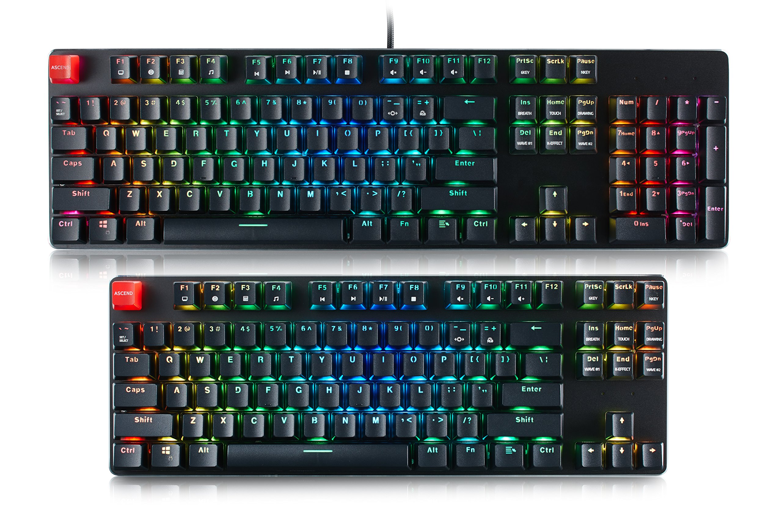 Glorious Modular Mechanical Gaming Keyboard - Full Size (104 Key) - RGB LED Backlit, Brown Switches, Hot Swap Switches (Black)(GMMK-BRN) by Glorious PC Gaming Race (Image #1)