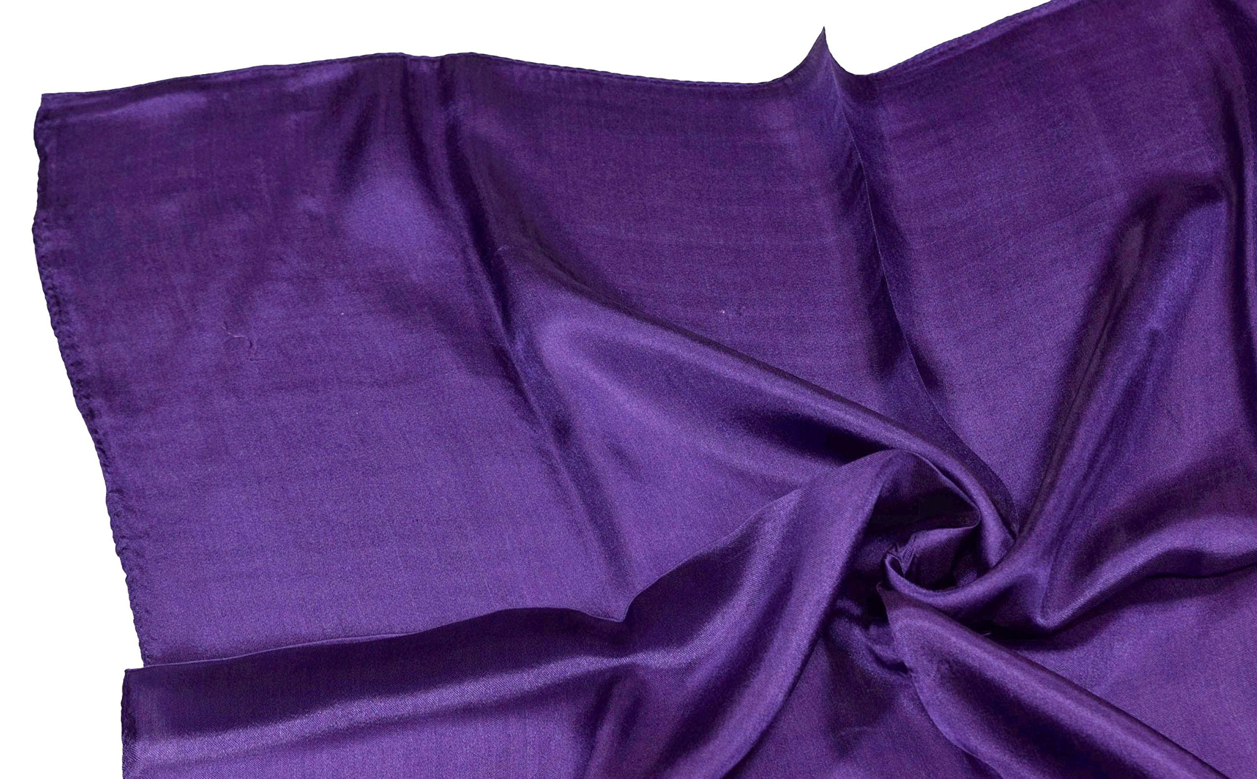 Deep Purple Small Fine Silk Square Scarf by Bees Knees Fashion (Image #6)