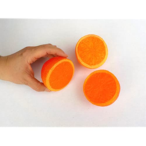 3Orange hälften hohlattr Appen–déco factice Orange en plastique, imitation alimentaire, faux Food, décoration, les fruits factice, superbe idée cadeau, de la nourriture factic