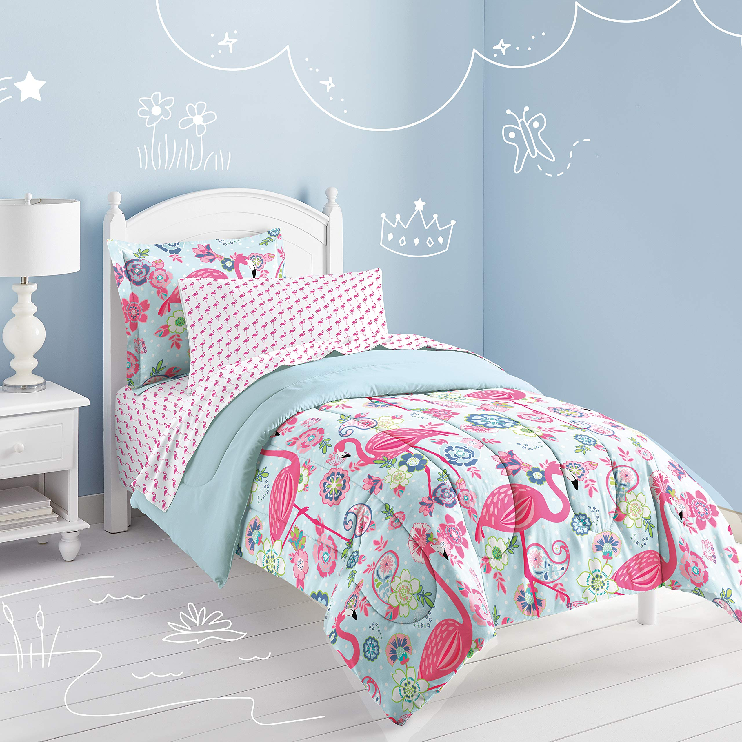 Dream Factory Flamingo Comforter Set, Pink, Twin by Dream Factory (Image #4)