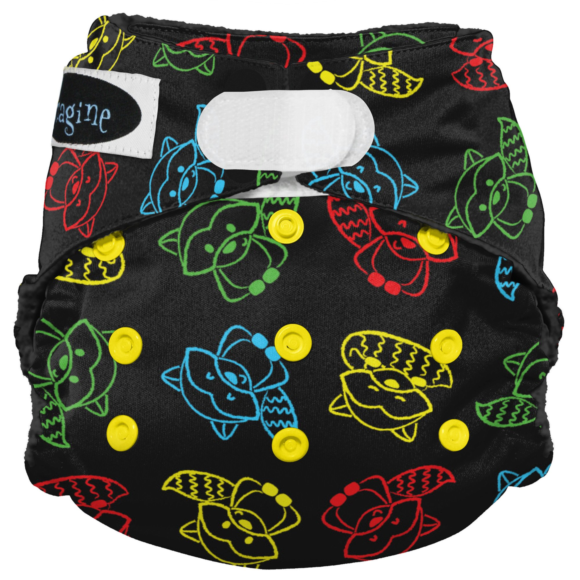 Imagine Baby Products Stay Dry All-in-One Hook and Loop Diaper (Raccoon Ruckus)
