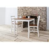 Noa and Nani - Annika Dining Table Bistro Set with 2 Chairs - (Natural Pine and White)