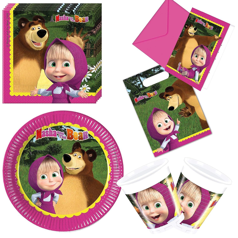 Procos 10117008 Party Set Masha y el oso: Amazon.es ...