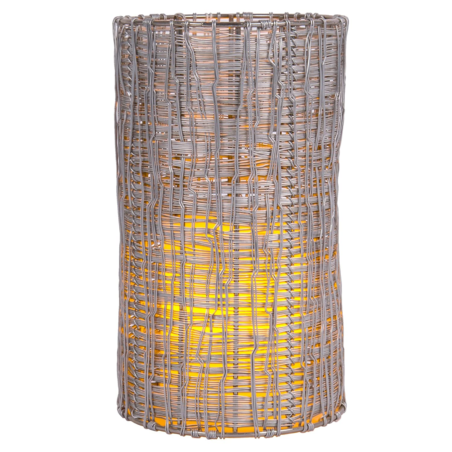 Truu Design 8 inches, Square Metal Candle Shade, Silver CTG Brands 26763