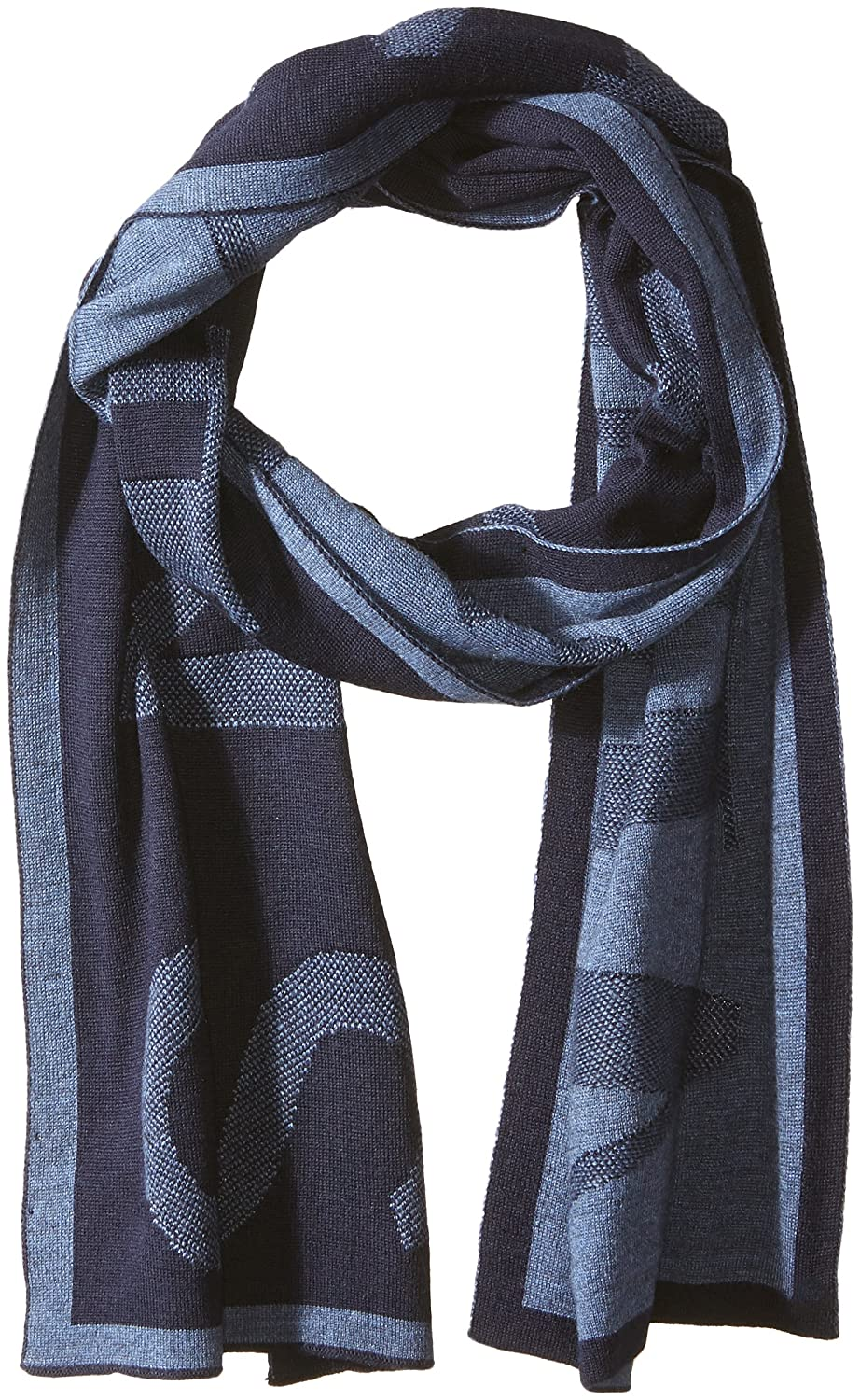 Armani Exchange Men's Woolblended Knit Scarf with Large Print Black/Grey ONE Size 9341067A715