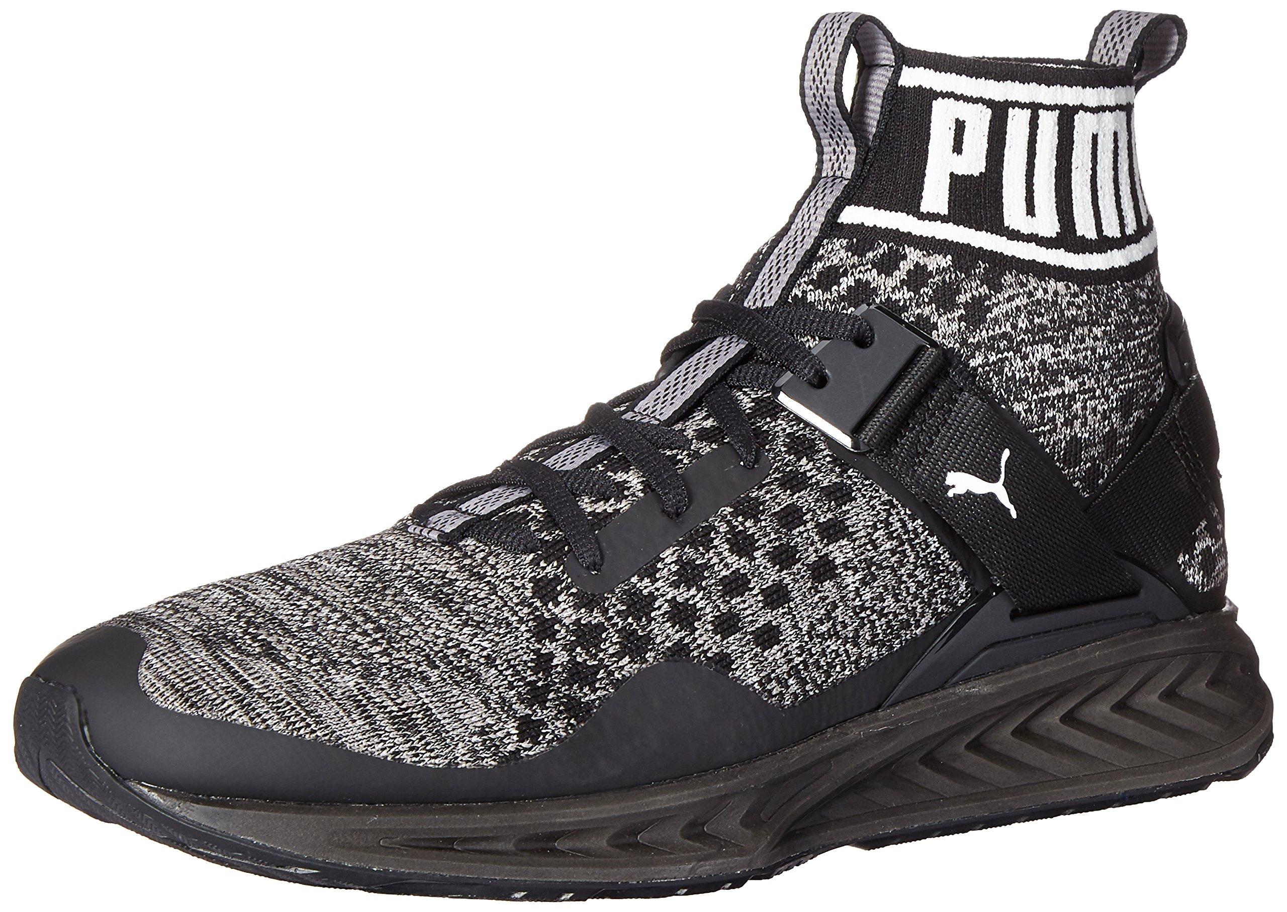 PUMA Men's Ignite Evoknit Cross-Trainer Shoe, Black/Quiet Shade Black, 10.5 M US
