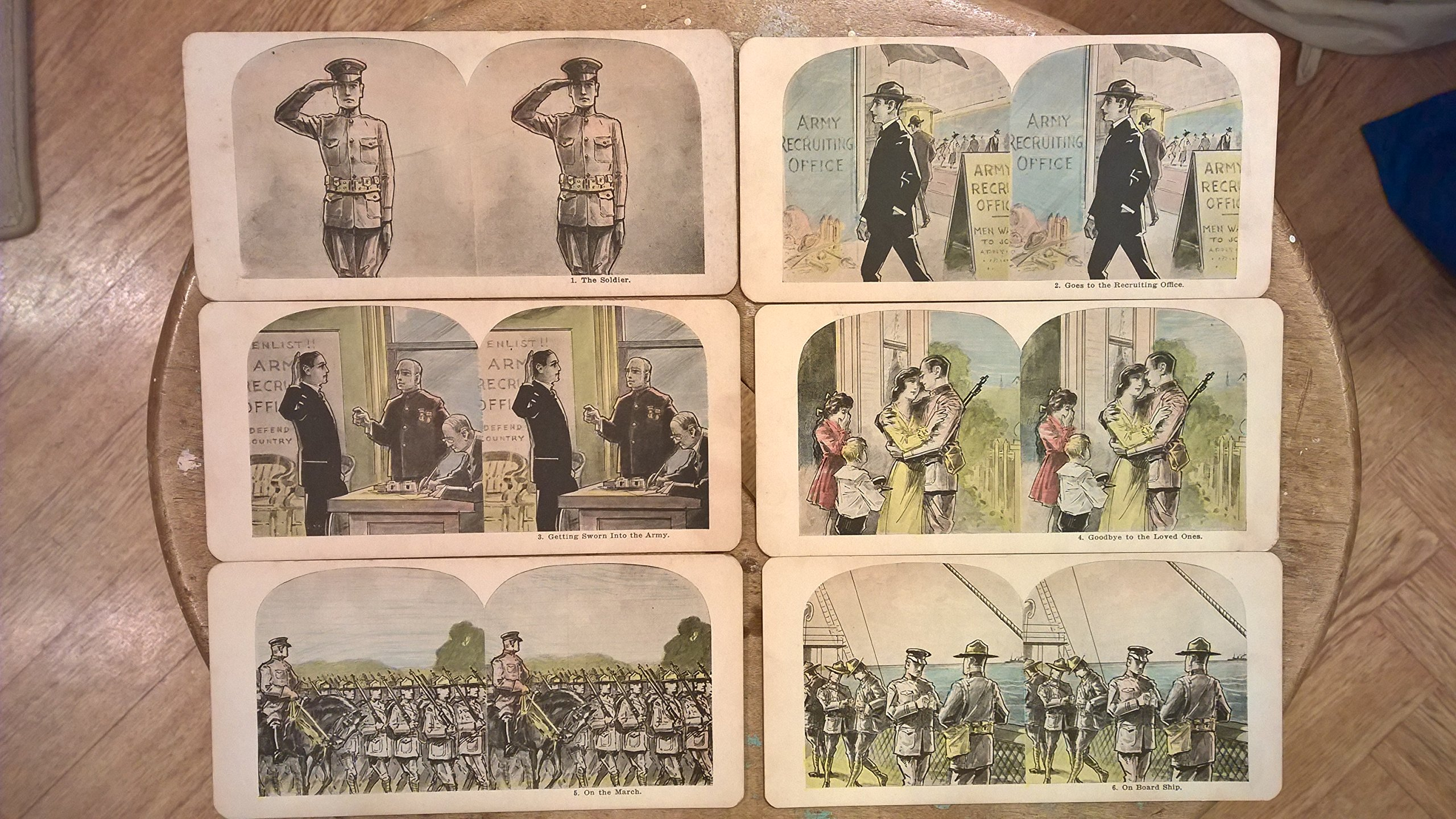 WW1 Stereographs of U.S. Soldier Rare