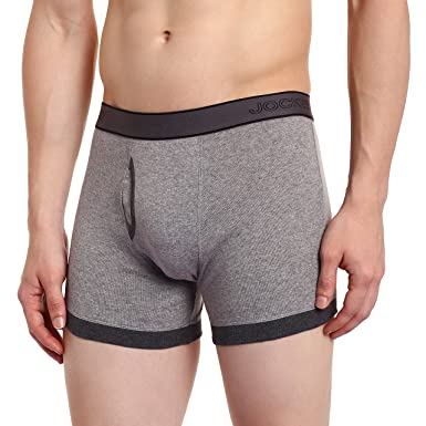 a386a585c3 Jockey Men's Cotton Trunks (1017_Small_Grey Melang/Charcoal Melang)