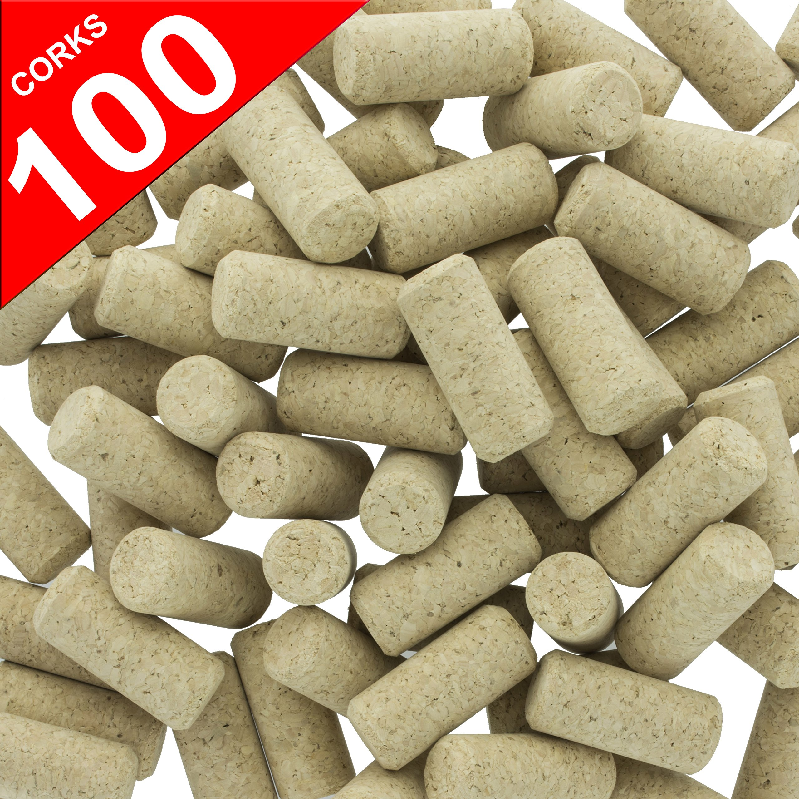 Wine cork 100 new wine corks 9 agglomerated natural for Natural corks