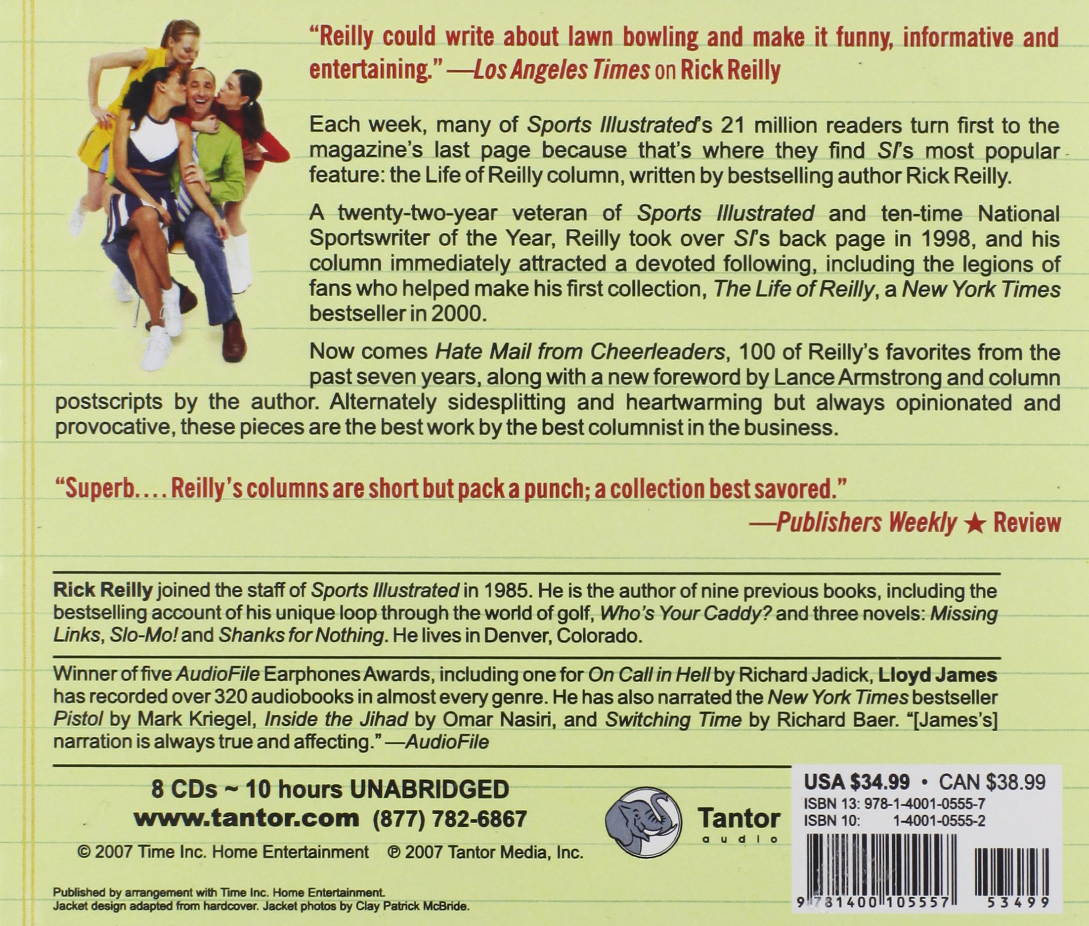 Hate Mail from Cheerleaders: And Other Adventures from the Life of Reilly by Tantor Audio (Image #2)