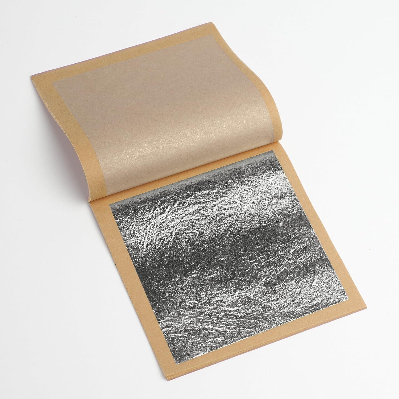 2 booklets Loose /& Transfer 50 sheets Genuine Silver Leaf , Transfer