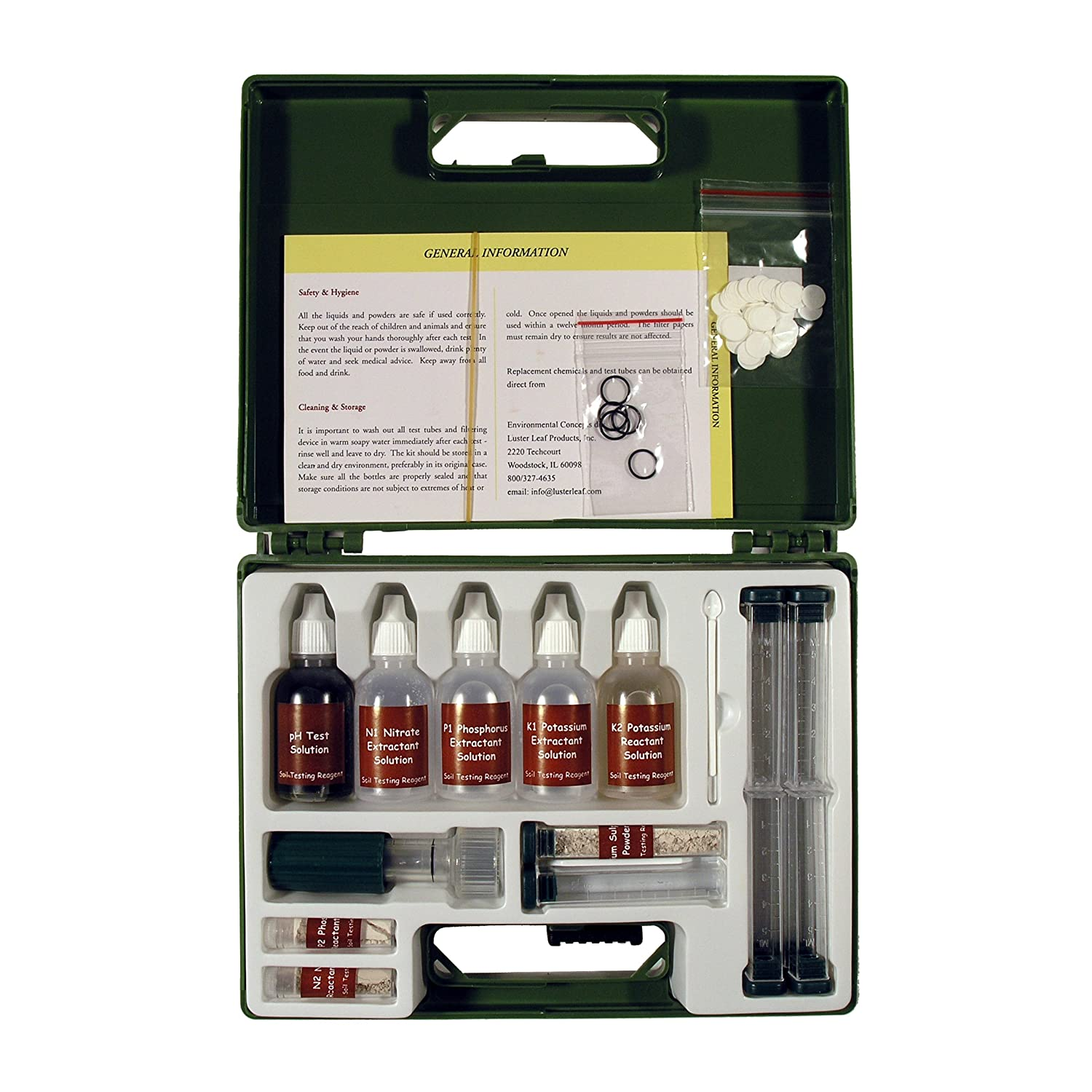 Environmental Concepts 1663 Professional Soil Test Kit with 80 Tests