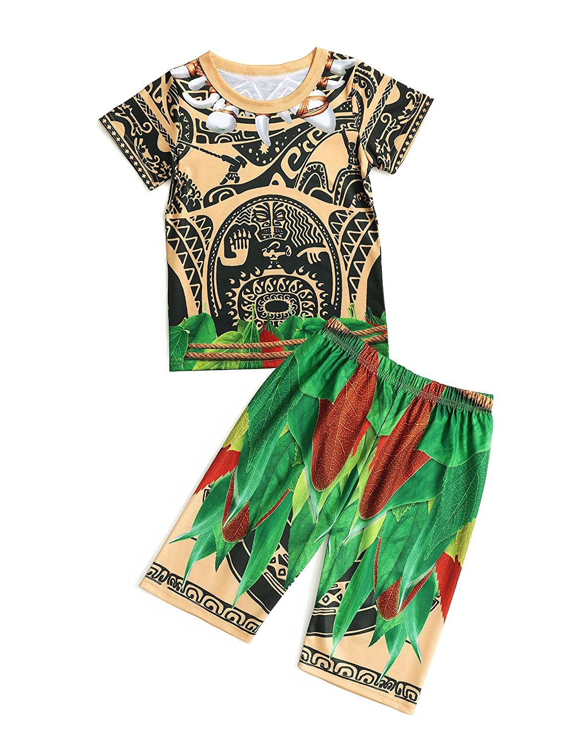 Maui Little Boys 3D Digital print Pajamas Sets 2 Piece For Kids Clothes Toddler Pjs Sleepwear