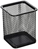 Uxcell Metal Mesh Office Desk Stationery Pen Holder Container, 3 Pieces, Black