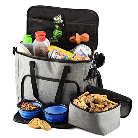 Amazon.com   PETS GO2 Dog Travel Bag - Convenient Machine Washable Storage  - Supply Tote for All Dog Sizes   Pet Supplies 20c0b3b366