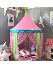 Princess Castle Play Tent for Girls Indoor Outdoor Use, By Tiny Land