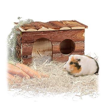 Relaxdays – 10023867 Gran Casa Adolescente, Animales pequeños, Natural, Ratas, cobayas Casa