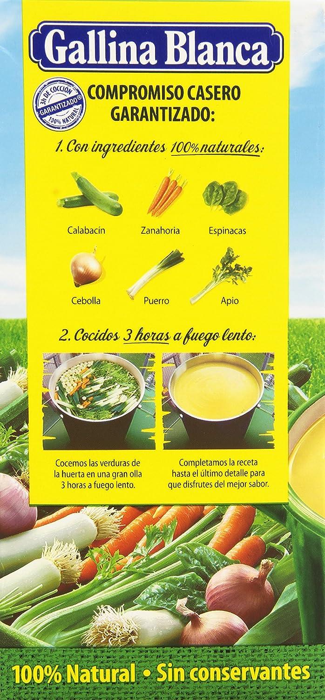 Gallina Blanca - Caldo casero de verduras - 100% Natural - 1 l: Amazon.es: Alimentación y bebidas
