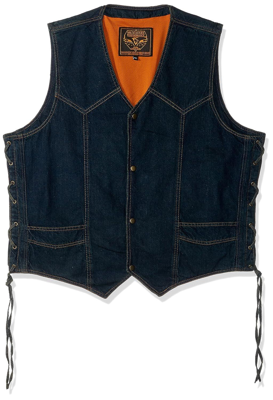 Milwaukee Performance Side Lace Basic Denim Vest Black, Medium