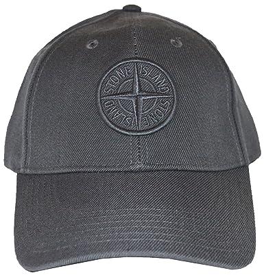 d3765b2b5a9 Stone Island Cap - 651599175 - Grey (Large)  Amazon.co.uk  Clothing