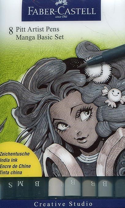 Faber-Castell 167107 - Pack de 8 rotuladores para dibujo Manga ...