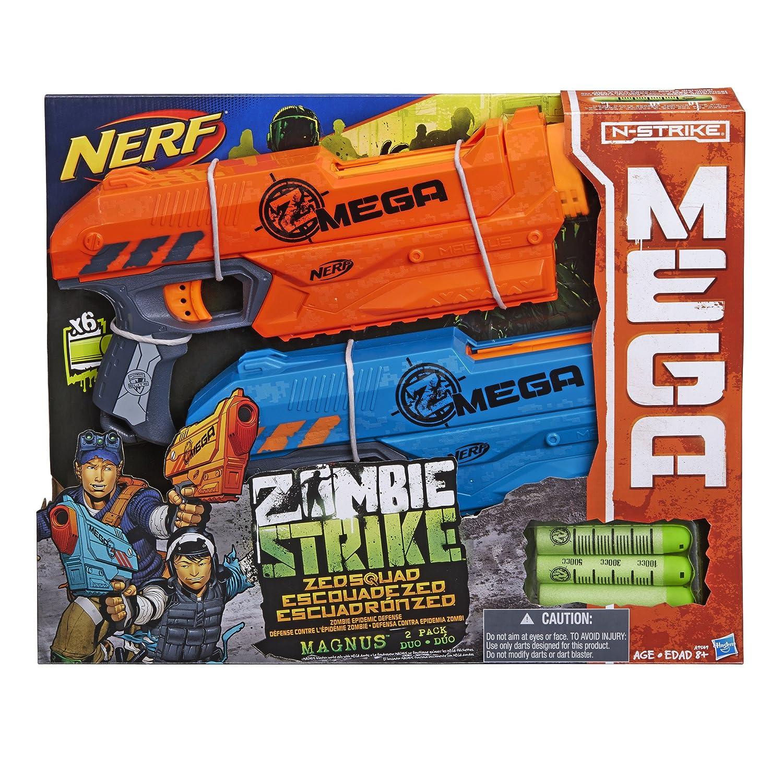 Amazon.com: Nerf Zombie Strike ZED Squad Magnus Blaster 2-Pack: Toys & Games