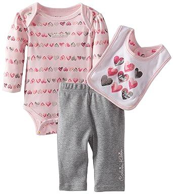 4b4a9acd6ea3 Amazon.com  Calvin Klein Baby-Girls Newborn Printed Bodysuit With ...