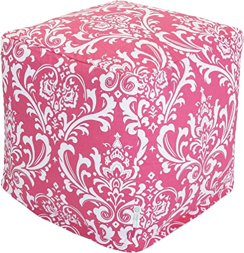 Majestic Home Goods Hot Pink and White French Quarter Cube, Small