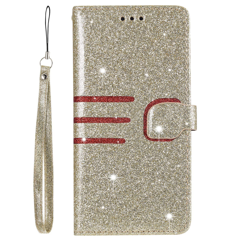 DOHHA110298 Rosa Gold Docrax Handyh/ülle Lederh/ülle f/ür Xiaomi Mi 8 Lite Flip Case Schutzh/ülle H/ülle mit Standfunktion Kartenfach Magnet Brieftasche f/ür Xiaomi Mi8 Lite