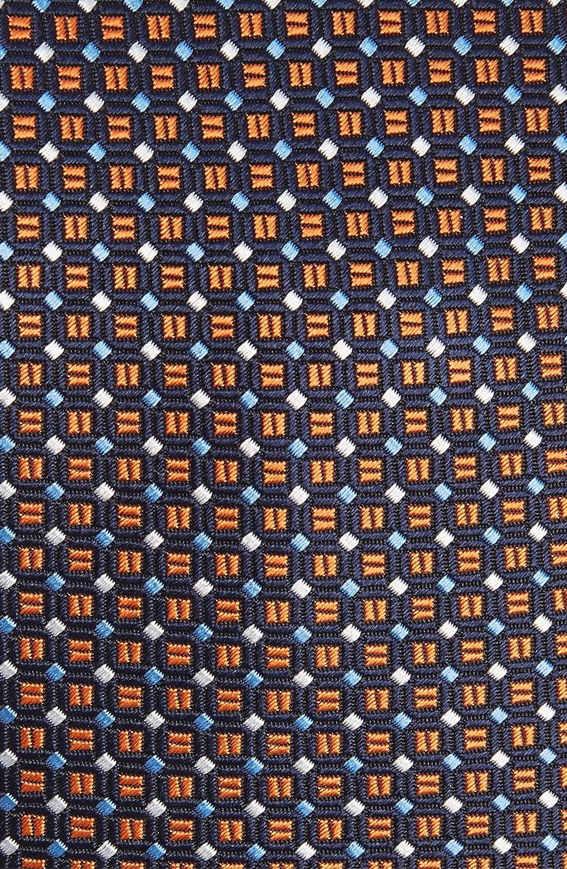 New 2019 Mens Eton Yellow//Orange Geometric Silk Tie
