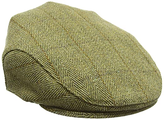 88b2ce641d5 Countrywear New Derby Tweed British Traditional Classic Teflon Coated Tweed  Cap Flat Hat Fishing Hunting Shooting Farming Walking  Amazon.co.uk   Clothing