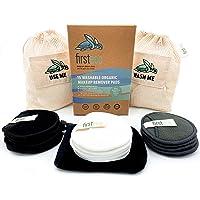 Firsteco® Premium Set: 15 Wasbare Make-Uppads + 2 Waszak, Washandjes, EBOOK, Bamboe Katoen Herbruikbare Wattenschijfjes…