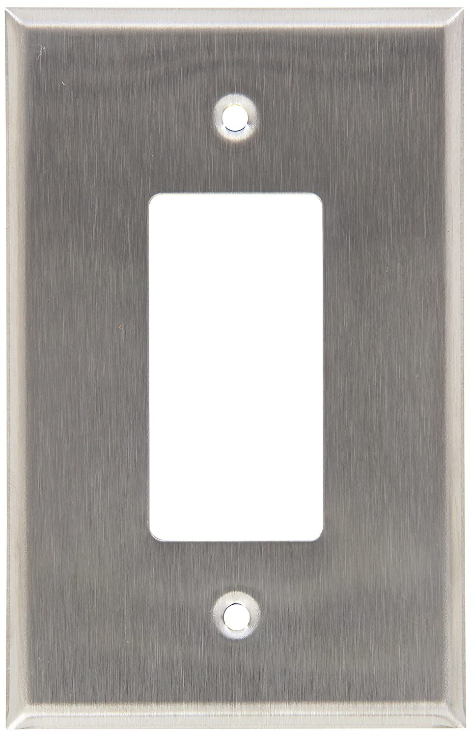 Morris 83740 430 Wall Plate, Oversize Decorative/GFCI, 1 Gang, Stainless Steel Morris Products
