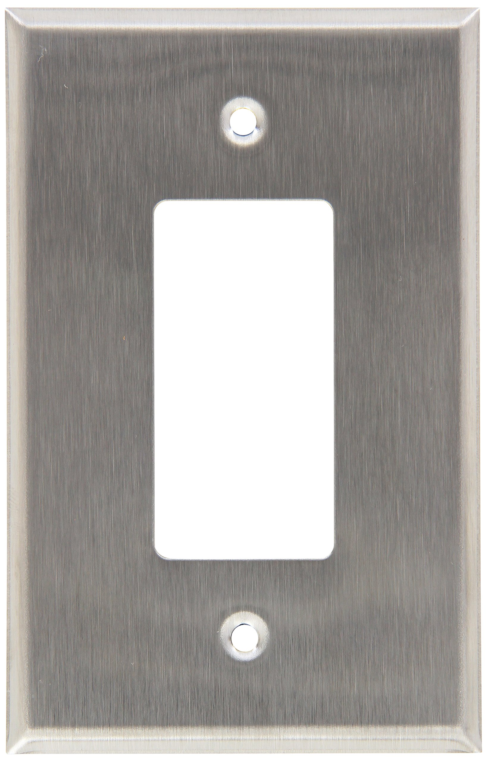 Morris 83740 430 Wall Plate, Oversize Decorative/GFCI, 1 Gang, Stainless Steel