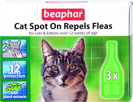 Beaphar Cat Spot On Repels Fleas 12 Weeks Protection Amazon Co Uk Pet Supplies