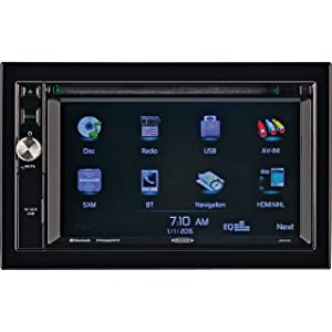 "JENSEN JRV9000R 2.0 Double DIN 6.2"" Touchscreen Navigation / Bluetooth Multimedia Receiver System JRV9000 with Harness, DVD, NAV, SiriusXM Ready, BT Technology, iPhone / iPod, MHL, HDMI, USB, AV In."