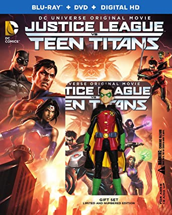 Justice League Vs Teen Titans Deluxe Edition Dvd Digital Hd Figure