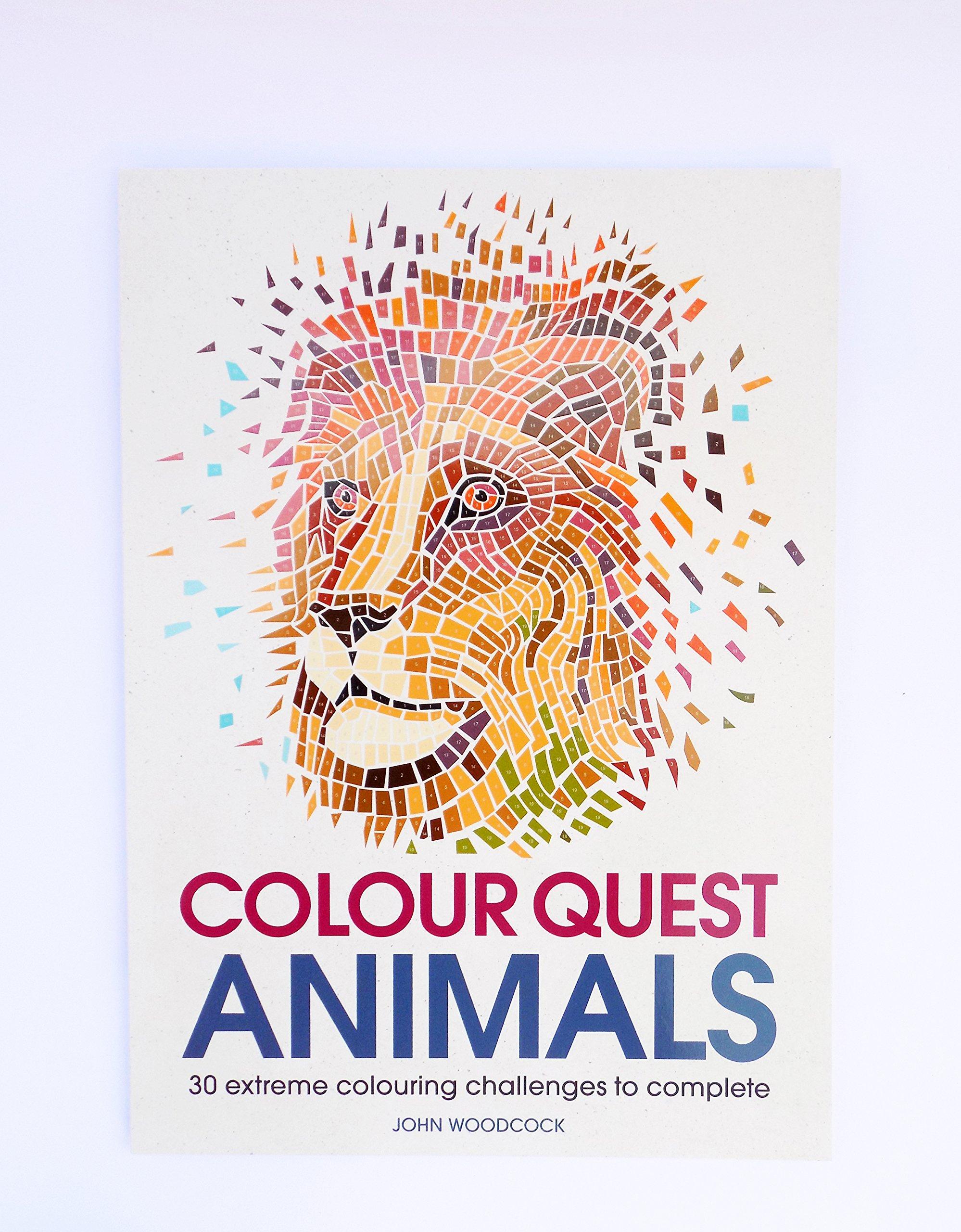 Colour Quest Animals Colouring Books Amazoncouk John Woodcock 9781782437130
