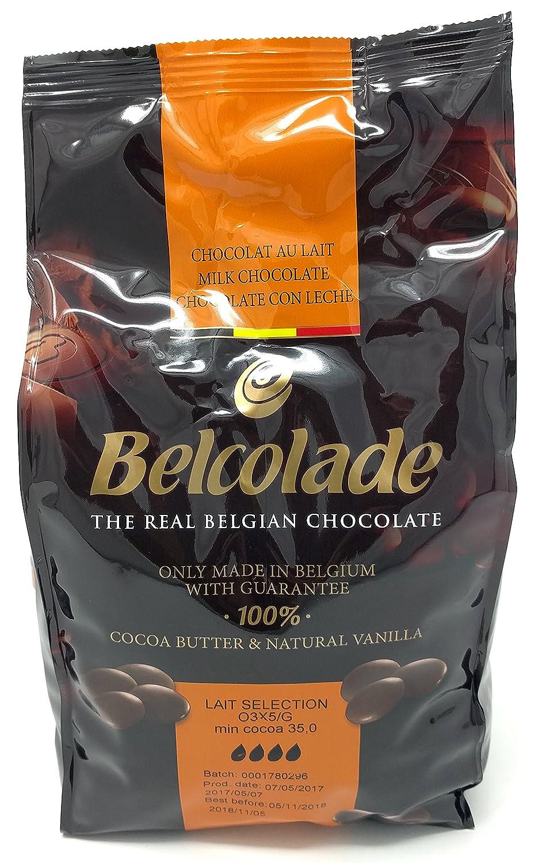 Belcolade pepitas de Chocolate con Leche, Negro y Blanco - Lote de 3 x 1kg: Amazon.es: Alimentación y bebidas