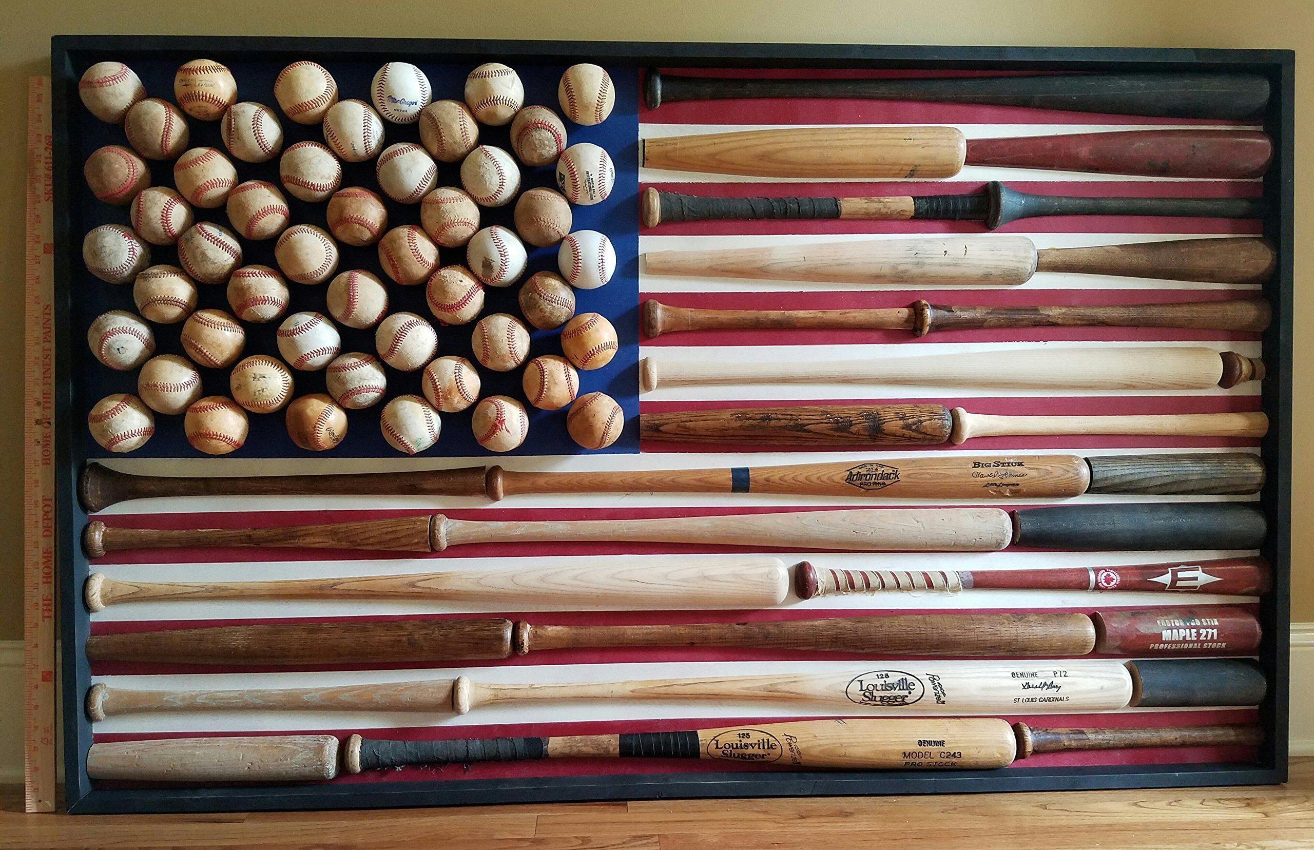 Baseball Flag - US Flag - America - Vintage - Baseball