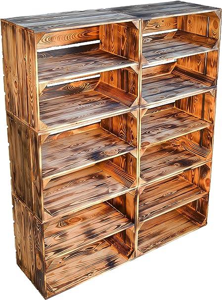 Caja de fruta para frutas, con placa intermedia, suela media, aprox. 49 x 42 x 31 cm. Cajas de manzanas y cajas de vino, cajas de madera en – Naturaleza: Amazon.es: Bricolaje y herramientas