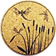 XL Coasters Dragonfly & Cattail (6 Inch, Set of 2) Drink coasters that don't stick