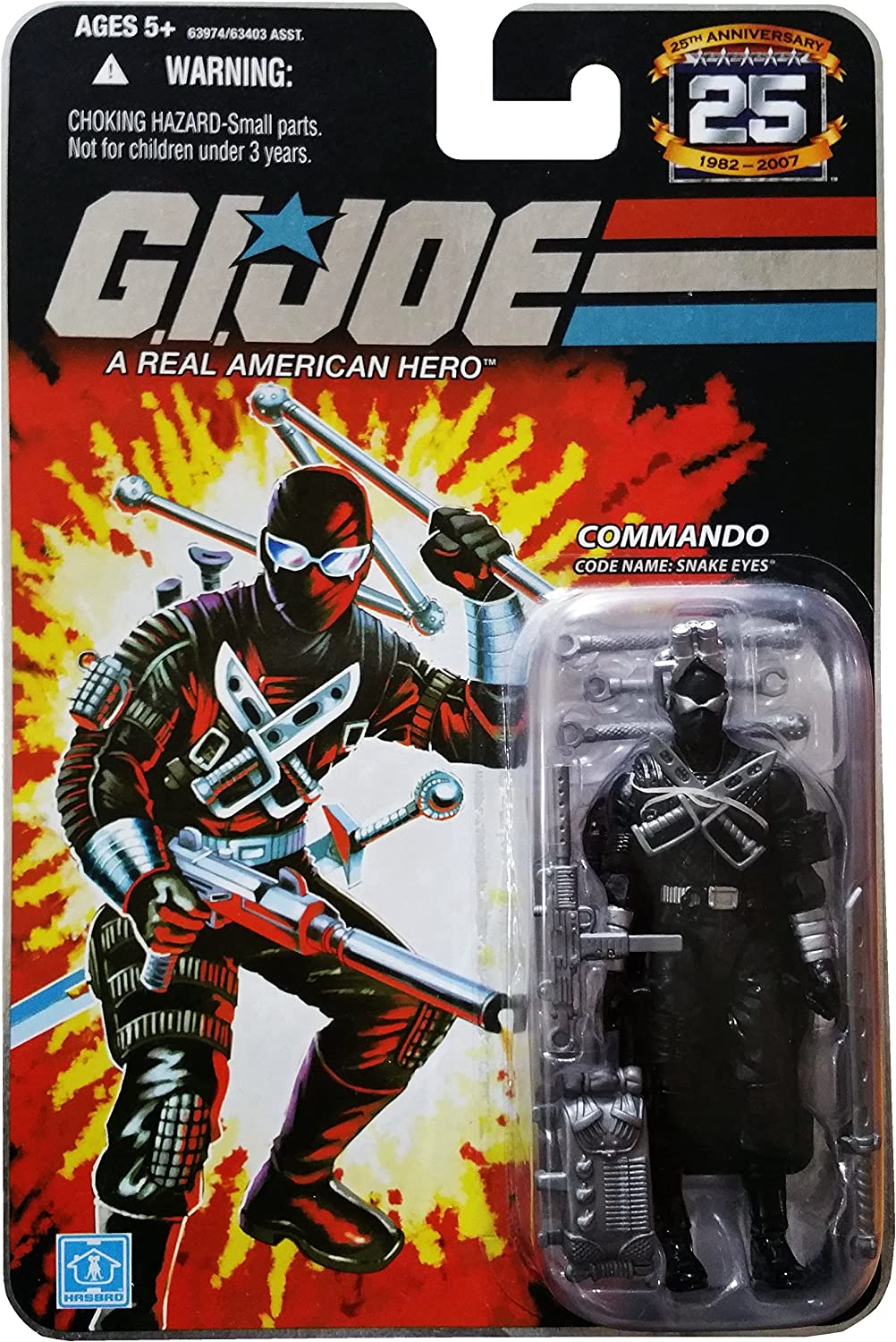 GI Joe 25th Anniversary: Snake Eyes v.4 (Commando) 3-3/4 Inch Action Figure