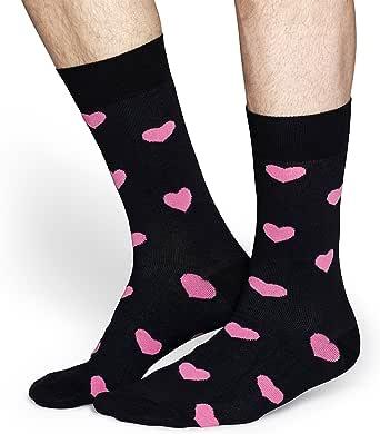 Happy Socks Men's Heart Sock, Multicoloured, 36-41