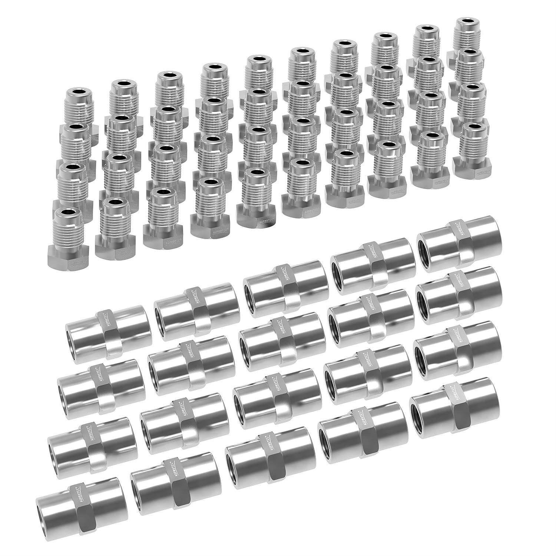 "Classic Ford Brake Pipe Connectors 3//8/"" UNF x 24tpi Male /& Female For 3//16/"" Pipe"