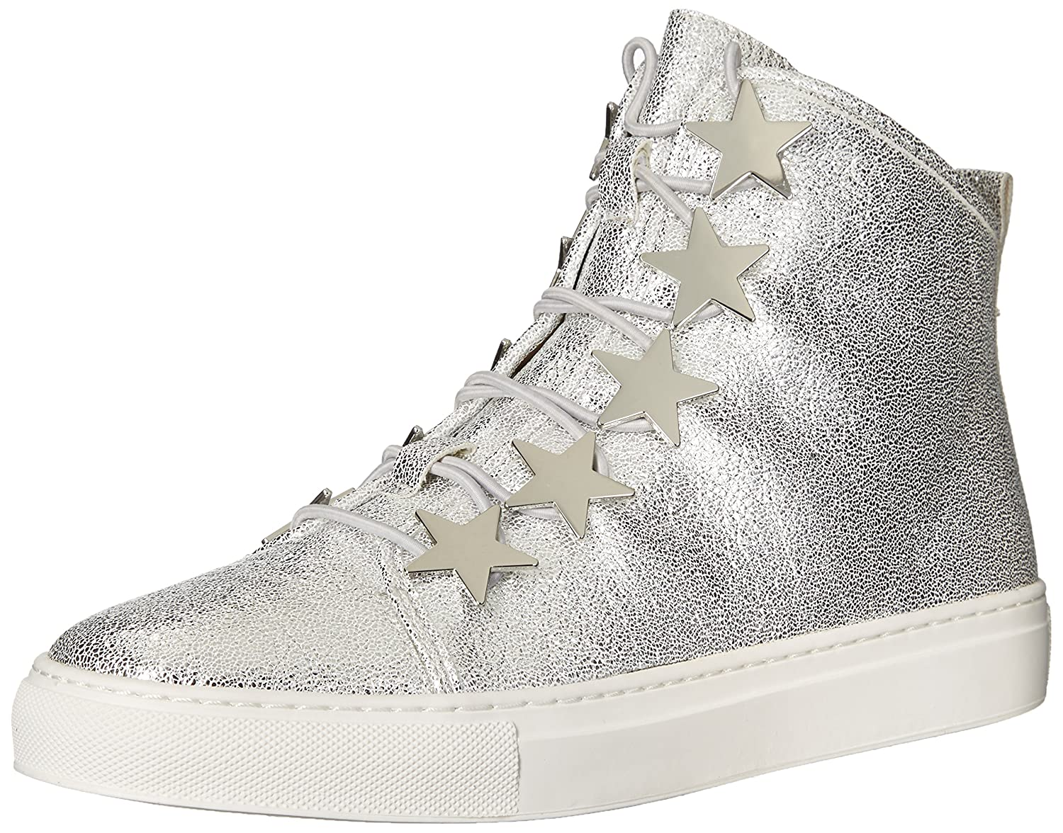 Katy Perry Women's The Astrea Sneaker, White, 8.5 Medium US B06XG4VRBS 5 B(M) US|Silver